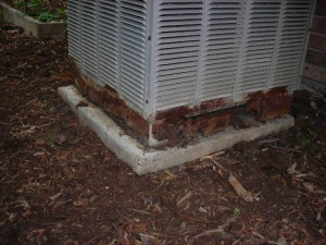 Damaged HVAC Unit