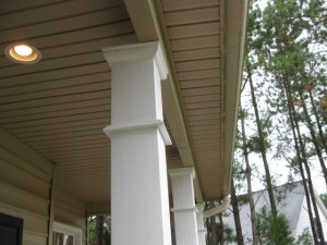 Raleigh Home Inspection Discovers Off-Center Loading of Front Porch Posts