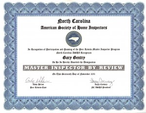 Raleigh Home Inspector Gary Gentry Quality Residential Inspectons Master Inspector By Review