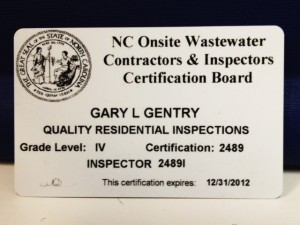 Raleigh Home Inspector Earns Level IV Onsite Wastewater System Installer Certification